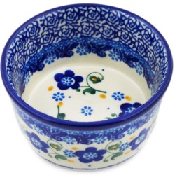 """Polish Pottery Bowl - 4"""" - Forget-Me-Not"""