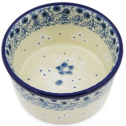 """Polish Pottery Bowl - 4"""" - White Daisies"""