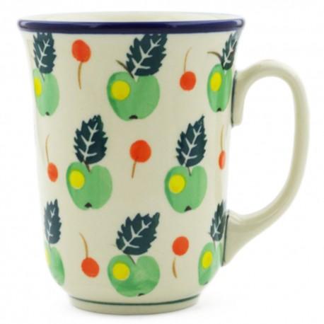 Polish Pottery Bistro Mug - 16 oz - Apple Orchard