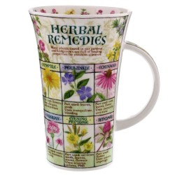Fine Bone China Mug - Tall - Herbal Remedies