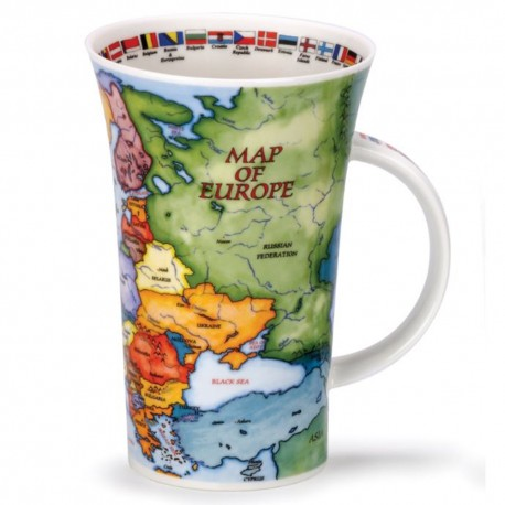 Fine Bone China Mug - Tall - Map of Europe