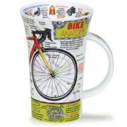 Fine Bone China Mug - Tall - Bike Anatomy