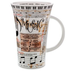 Fine Bone China Mug - Tall - Music