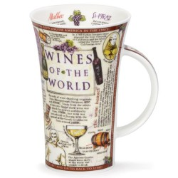 Fine Bone China Mug - Tall - Wines of the World