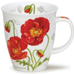 Fine Bone China Mug - Botanical Sketch Poppy
