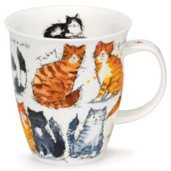 Fine Bone China Mug - Messy Cats