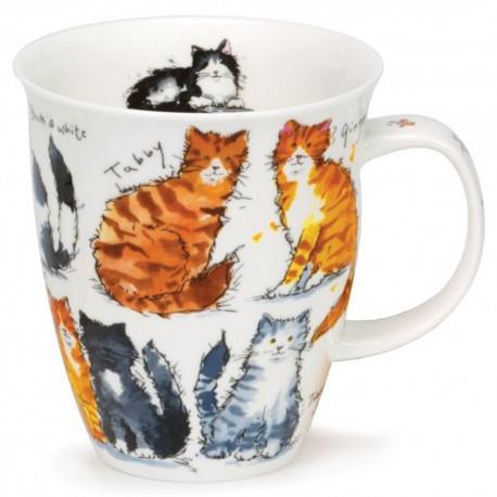 Fine Bone China Mug - Messy Cats