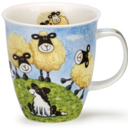 Fine Bone China Mug - Sheepies with Dogs