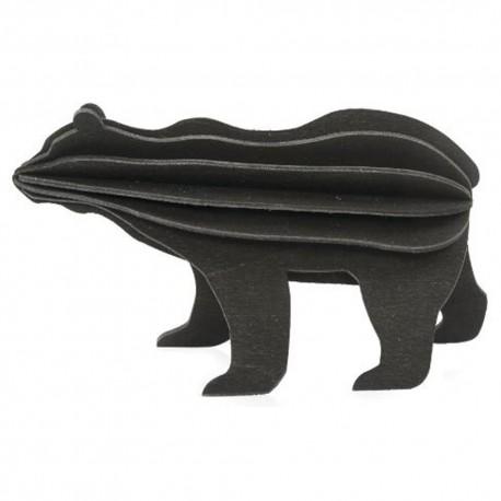Wooden 3D Puzzle - Black Bear