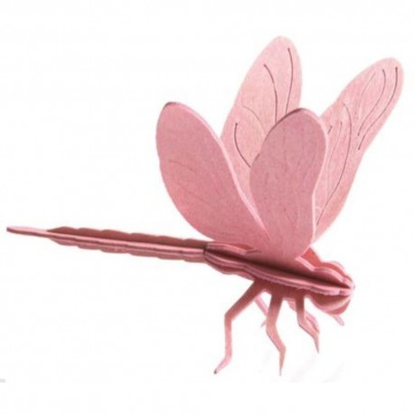 Wooden 3D Puzzle - Dragonfly
