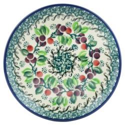 "Polish Pottery Plate - 6"" - Burgundy Berry"