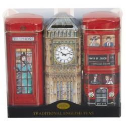 Triple Tea Selection in London Tins