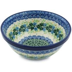 "Polish Pottery Bowl - 6.5"" - Ivy Trail"