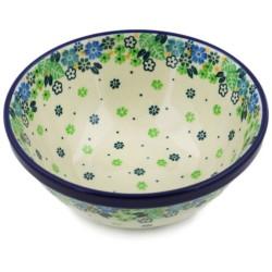 """Polish Pottery Bowl - 6.5"""" - Tropical"""