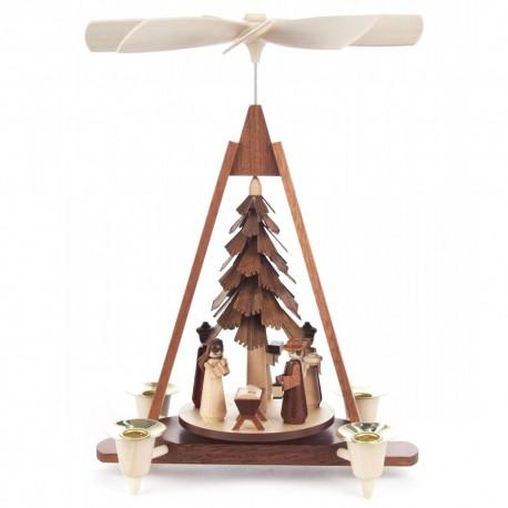 German Christmas Pyramid - One Level - Nativity