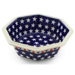 "Octagonal Bowl - 7"" - Americana"