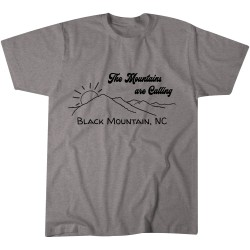 The Mountains are Calling Black Mountain Tshirt