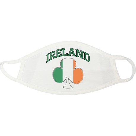 Ireland Shamrock Face Mask