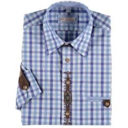 German Traditional Men's Fest Shirt Blue