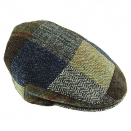 Harris Tweed Patch Flat Cap