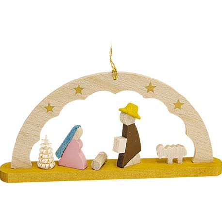 Nativity Arch Wooden Ornament Made in Germany