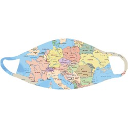 Map of Europe Face Mask