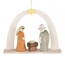 Nativity Arch Wooden Ornament