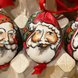Eggshell Ornament Santa Face