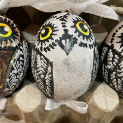 Eggshell Ornament Owl