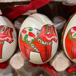 Eggshell Ornament Swedish Dala Horse