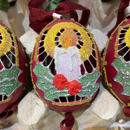 Eggshell Ornament Candle Cutout
