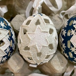 Eggshell Ornament Star Cutout