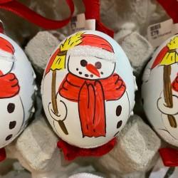 Eggshell Ornament Snowman