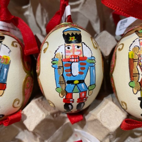 Eggshell Ornament Nutcracker