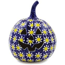 "Jack-o'-Lantern Pumpkin - 6"" - Daisies"