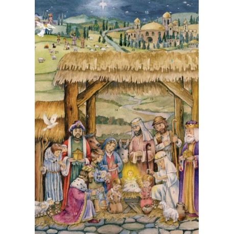 Nativity Paper Advent Calendar
