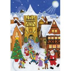 Santa Paper Advent Calendar
