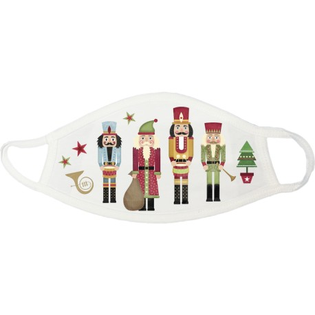Nutcrackers Christmas Face Mask