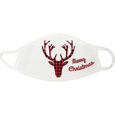 Buffalo Plaid Merry Christmas Face Mask