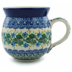 Polish Pottery Bubble Mug - 12 oz - Ivy Trail