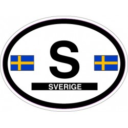 Oval Reflective Decal Sweden