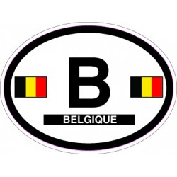 Oval Reflective Decal Belgium