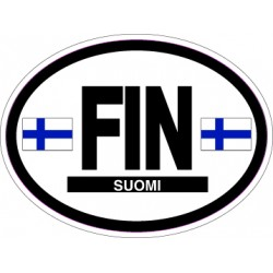 Oval Reflective Decal Finland