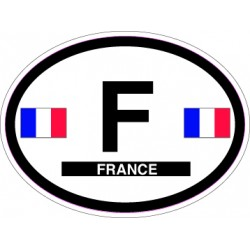 Oval Reflective Decal France