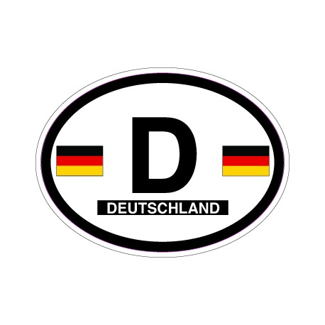 Oval Reflective Decal Germany