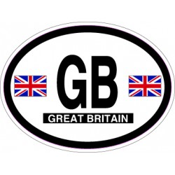 Oval Reflective Decal Great Britain