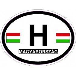 Oval Reflective Decal Hungary