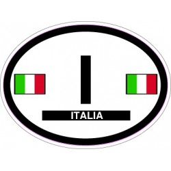 Oval Reflective Decal Italy