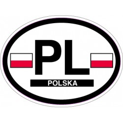 Oval Reflective Decal Poland