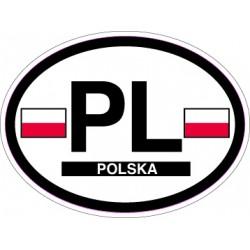 Oval Reflective Decal Poland